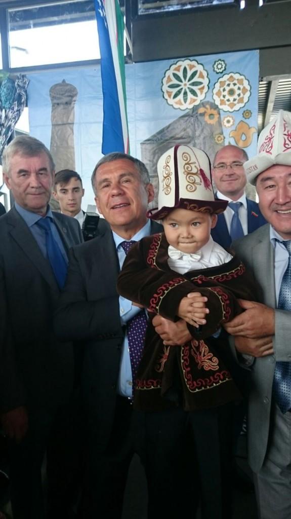 Минниханов с кыргызами Татарстана